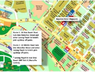 Bayview Hotel Singapore - Hotel Access Map