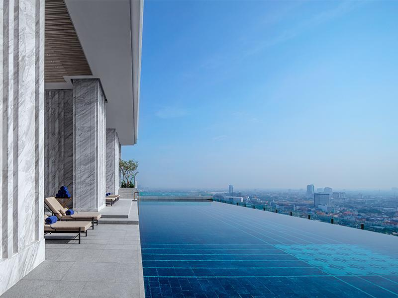 【曼谷飯店推薦】137柱公寓酒店,無邊際泳池