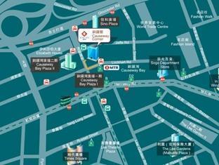 Causeway Corner Hong Kong - hartă