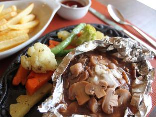 Palms Cove Resort Panglao Island - Food - Hamburger Steak Brown Mushroom Sauce