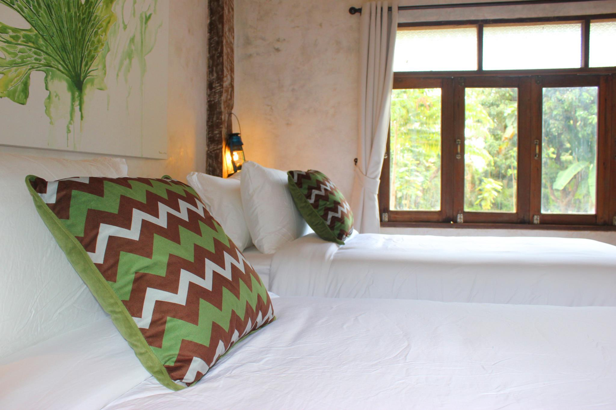 Baanchandra Deluxe Twin Room with Garden View,สตูดิโอ บ้าน 0 ห้องน้ำส่วนตัว ขนาด 20 ตร.ม. – หางดง