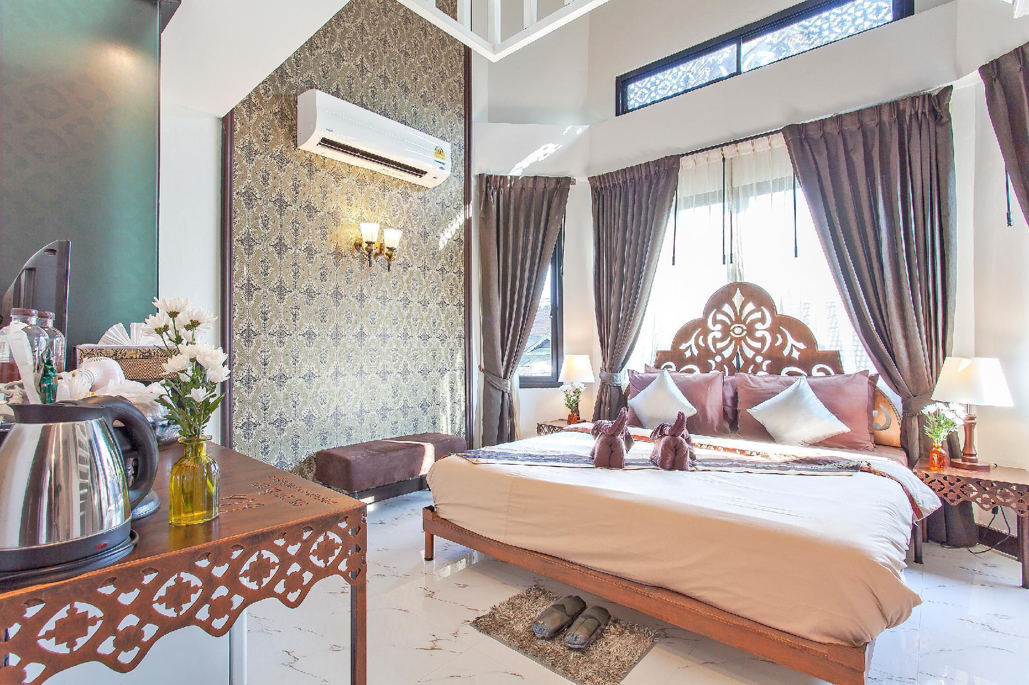 Chedi Luang Boutique Home 10BR Sleeps 22 in City วิลลา 10 ห้องนอน 9 ห้องน้ำส่วนตัว ขนาด 500 ตร.ม. – เขตเมืองเก่า