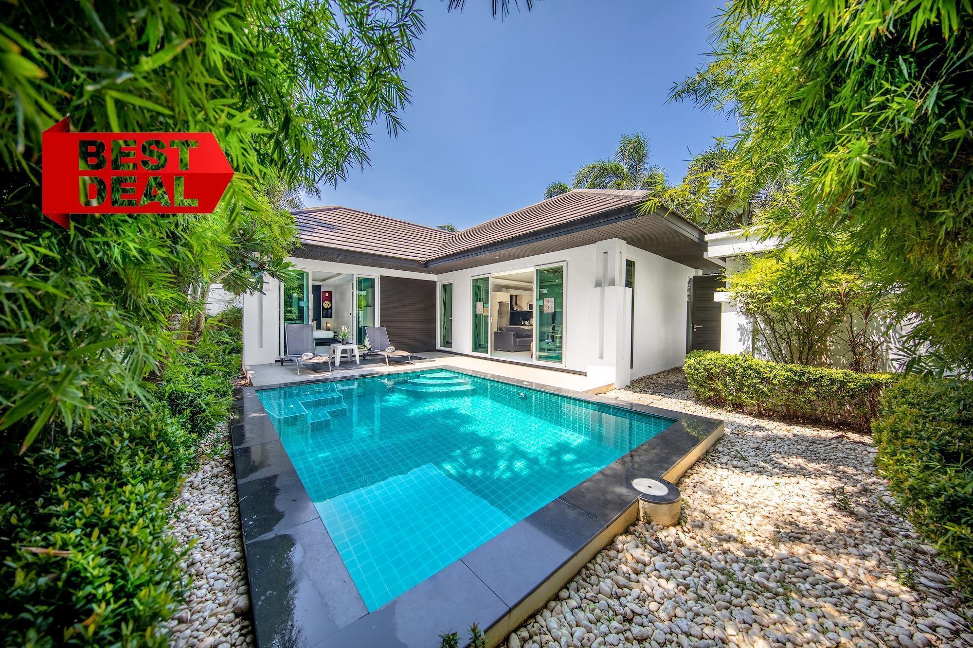 BEST SELLER Deluxe 2 BR Villa Palm Oasis Village วิลลา 2 ห้องนอน 2 ห้องน้ำส่วนตัว ขนาด 170 ตร.ม. – หาดจอมเทียน