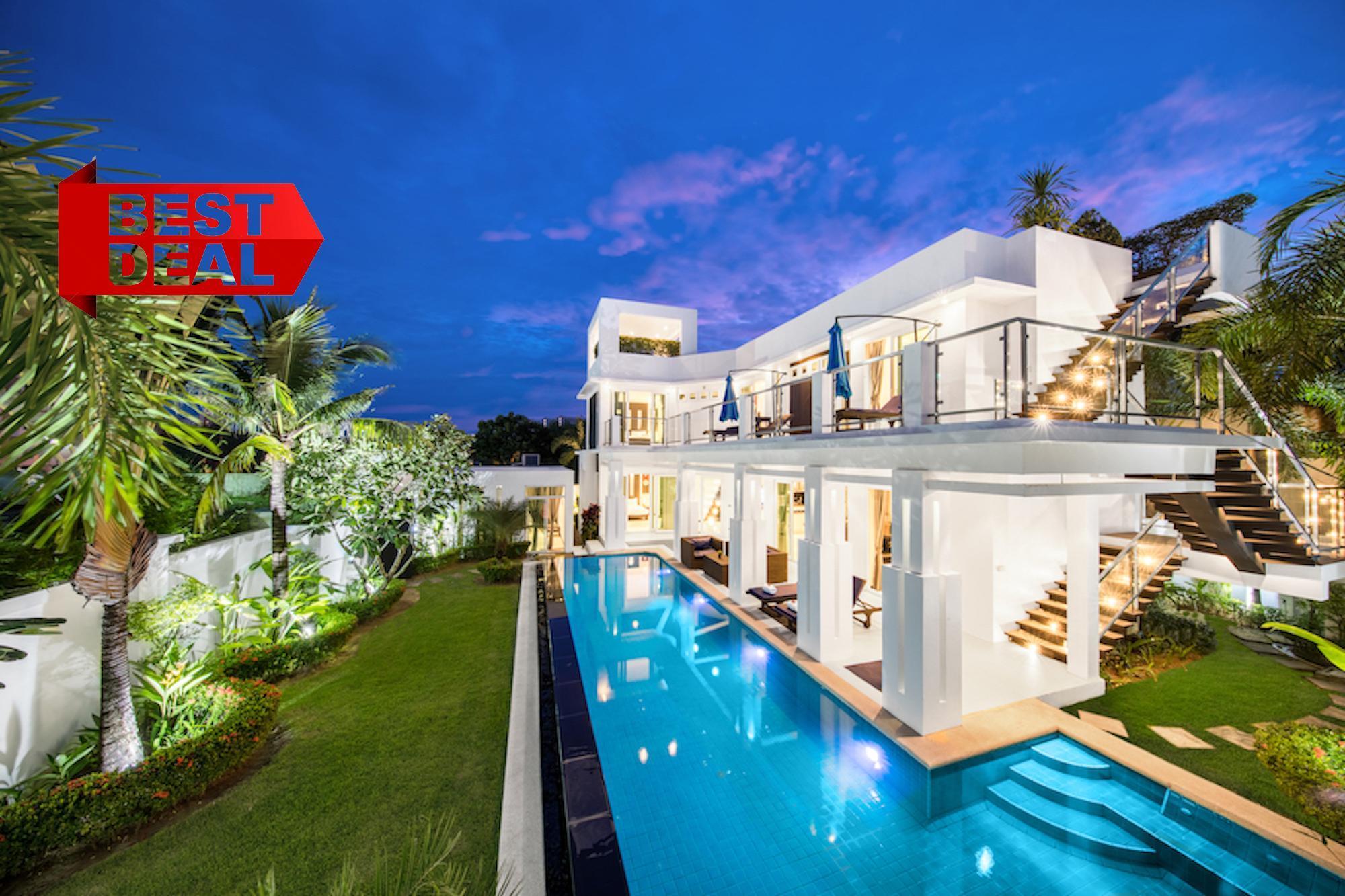 PREMIUM Pool Villa Pattaya 5 Bedroom With Jacuzzi