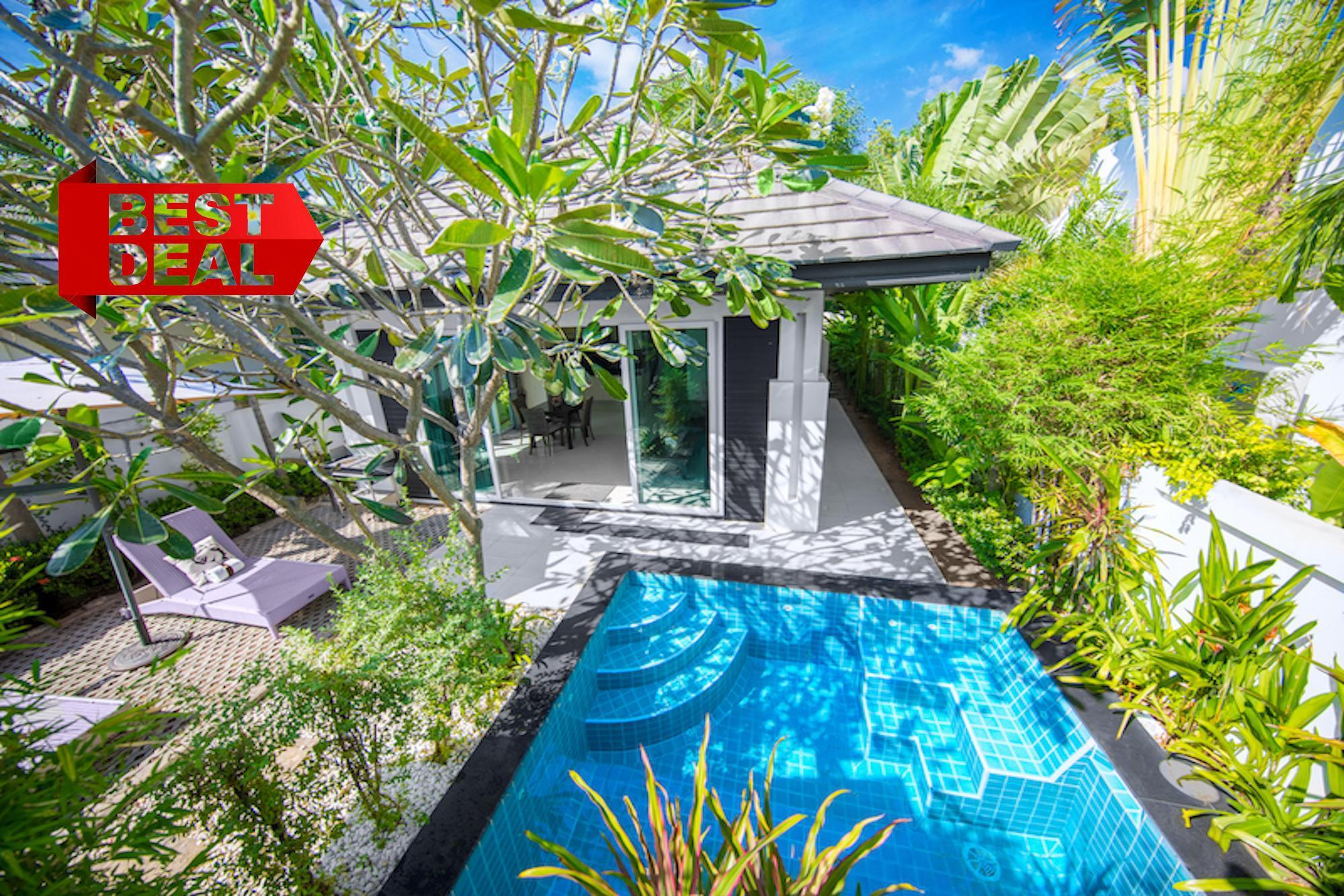 FAMILY Pool  Villa 2 Bedroom Palm Oasis Village 2 ห้องนอน 2 ห้องน้ำส่วนตัว ขนาด 140 ตร.ม. – หาดจอมเทียน