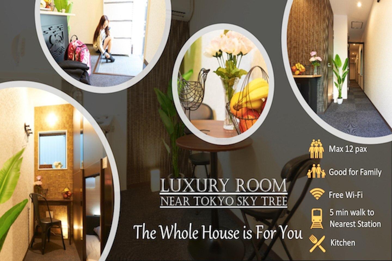 Luxury Room Near Tokyo Sky Tree  The Whole House