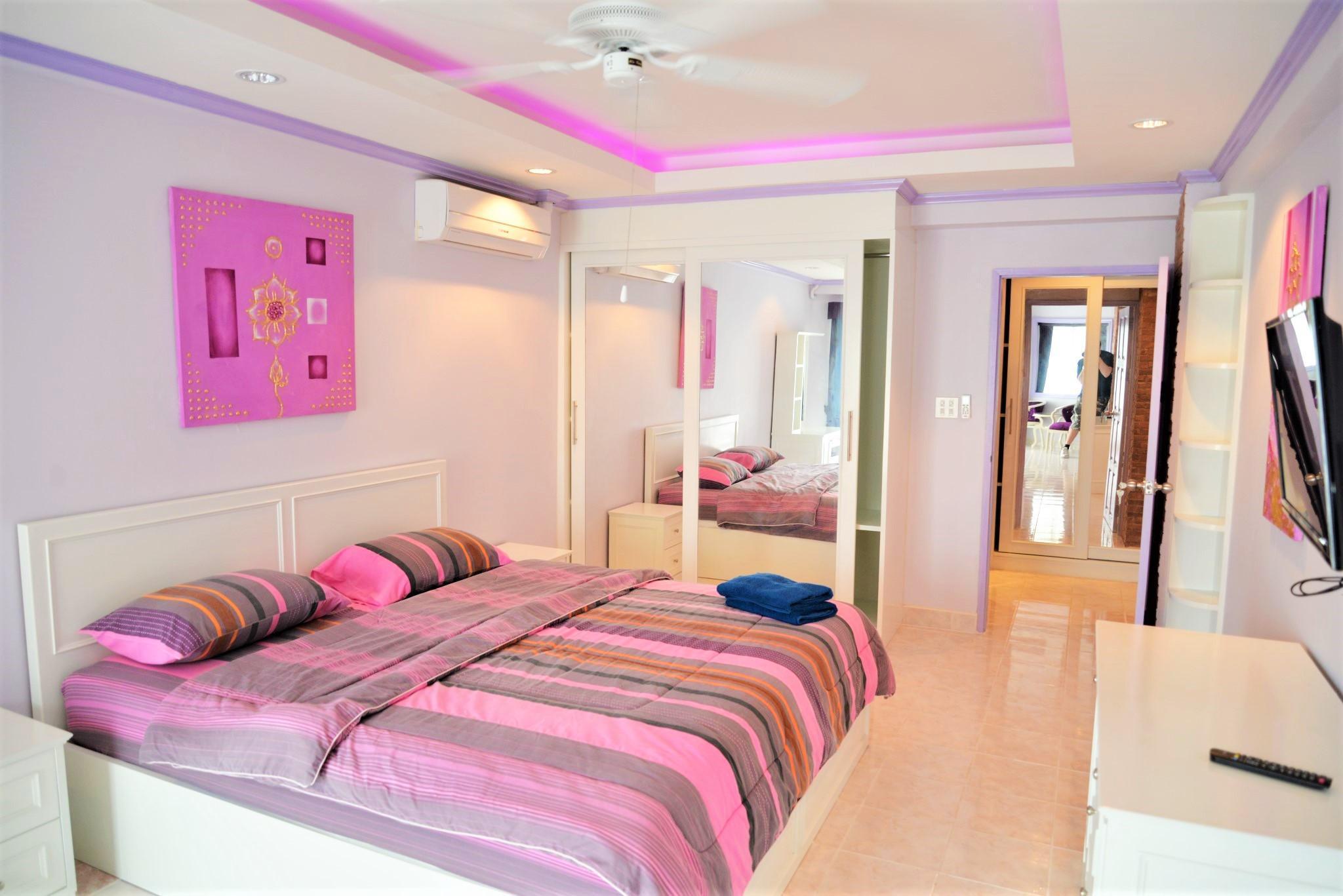 Large 1 bed with double balconies Jomtien beach S1 อพาร์ตเมนต์ 1 ห้องนอน 1 ห้องน้ำส่วนตัว ขนาด 68 ตร.ม. – หาดจอมเทียน