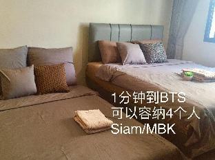 [サイアム]スタジオ アパートメント(27 m2)/1バスルーム 1 minute to BTS (1min to BTS)