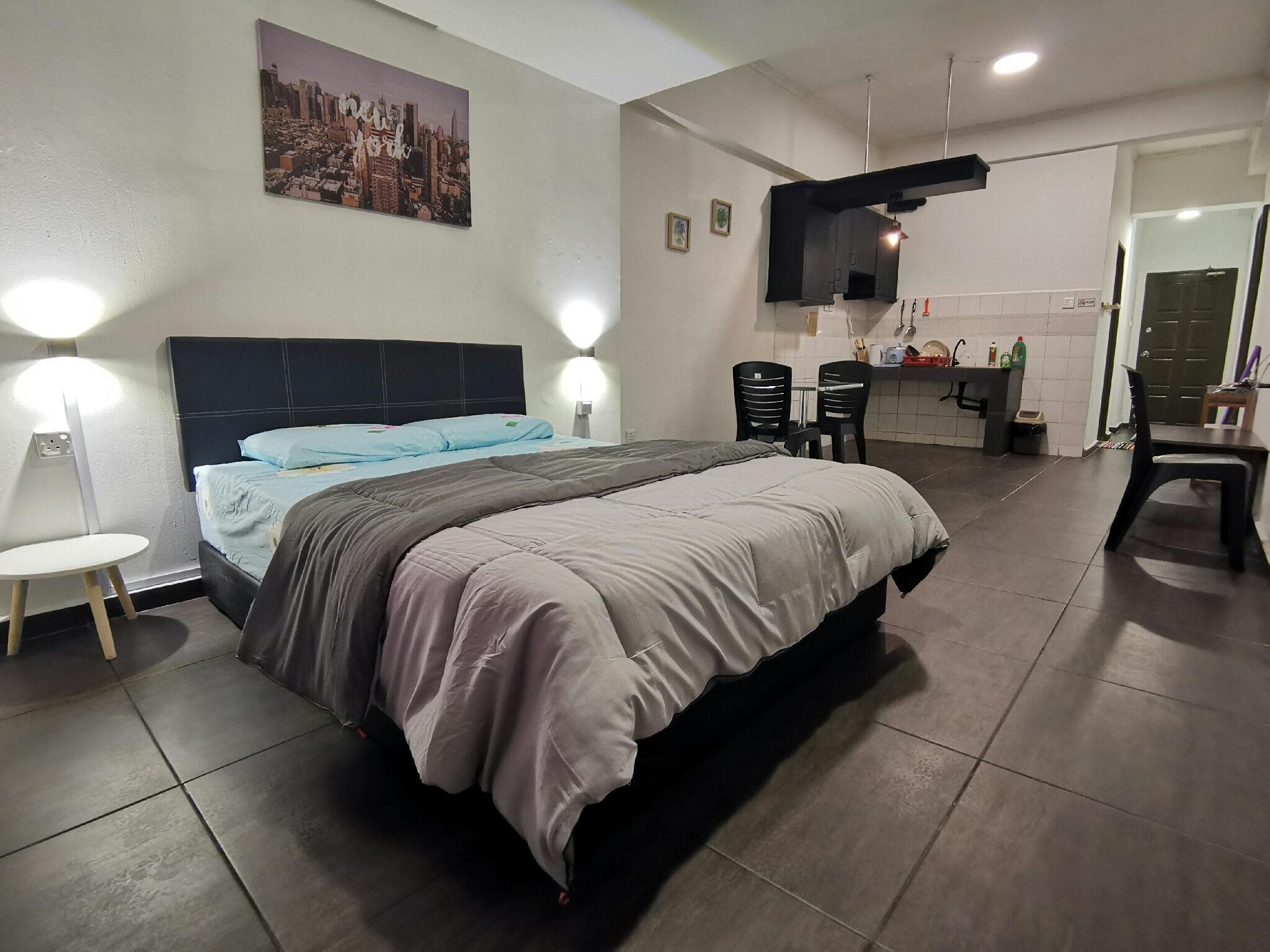 Studio Room Apartment WJ Homestay KK CITY CENTRE