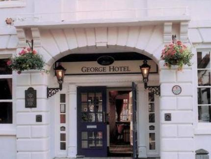 B/W Lichfield City Centre The George Hotel Photo 1