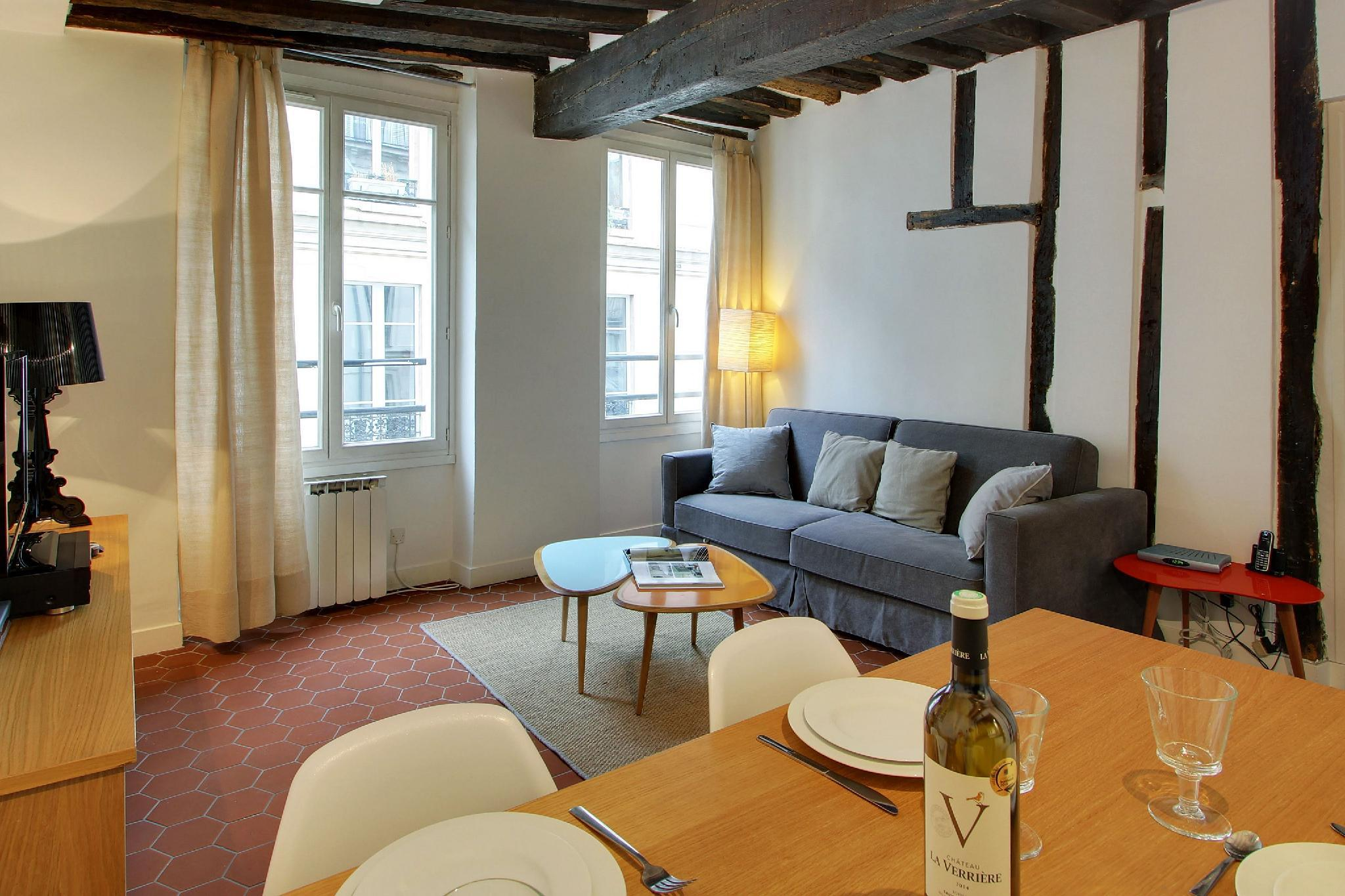102162 - Cozy apartment for 4 people in the Marais