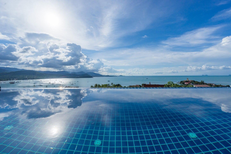 Luxury Sea View Pool Villa H uniQue Residences วิลลา 4 ห้องนอน 4 ห้องน้ำส่วนตัว ขนาด 120 ตร.ม. – เชิงมน