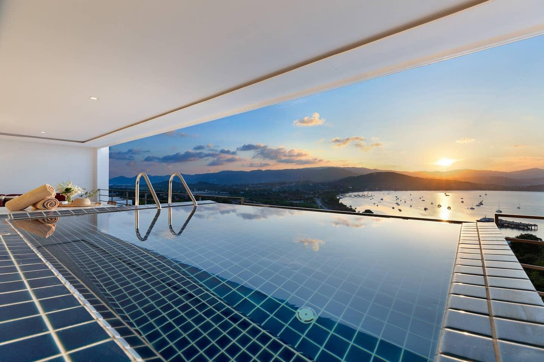 Luxury Sea View Penthouse L uniQue Residences อพาร์ตเมนต์ 2 ห้องนอน 2 ห้องน้ำส่วนตัว ขนาด 60 ตร.ม. – เชิงมน