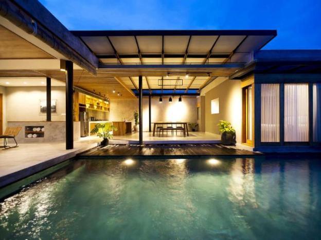 Infinity Pool Villa 3BR + B'fast + view pool&garden