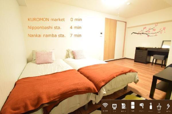 S&W 1 Bedroom Apt near Kuromon Market 203 Osaka