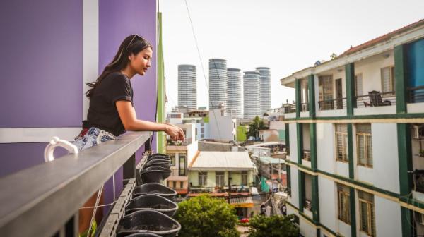 Tropical studio with balcony 3mins to Vinhomes #7 Ho Chi Minh City