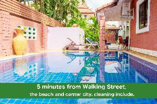 %name Pool villa corner 4 bedrooms 5 min Walking Street พัทยา