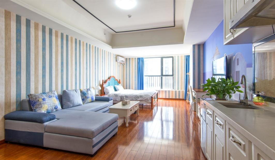 TAIGE 1 Bed Apartment Near Luogang Wanda Plaza