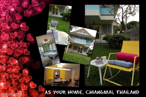 As Your Home,3BR,3BA,Full furnished,Free WiFi/Bike Chiang Mai