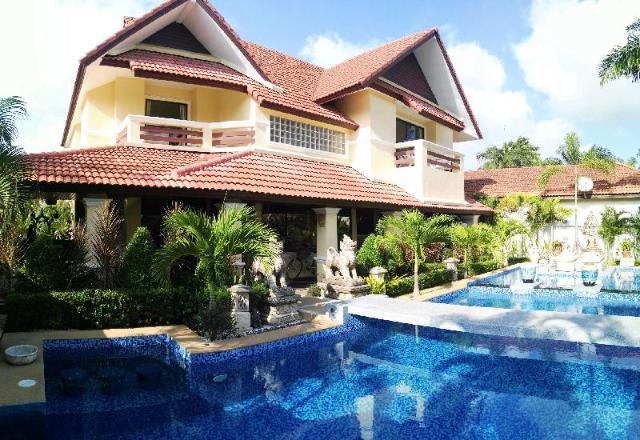 4 ห้องนอน 4 ห้องน้ำส่วนตัว ขนาด 250 ตร.ม. – หาดจอมเทียน – Luxurious Pool Villa 4 Bedrooms 250 Sqm