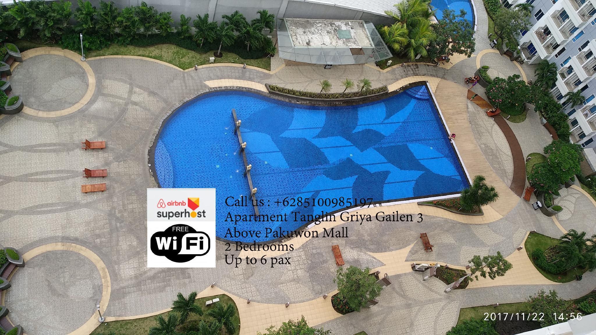 2BR Apt Tanglin Above Pakuwon Mall. Griya Gailen 3