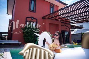 [チャオサムランビーチ]一軒家(200m2)| 3ベッドルーム/3バスルーム Aladdin beach house 4 bedroom pool-villa& karaoke