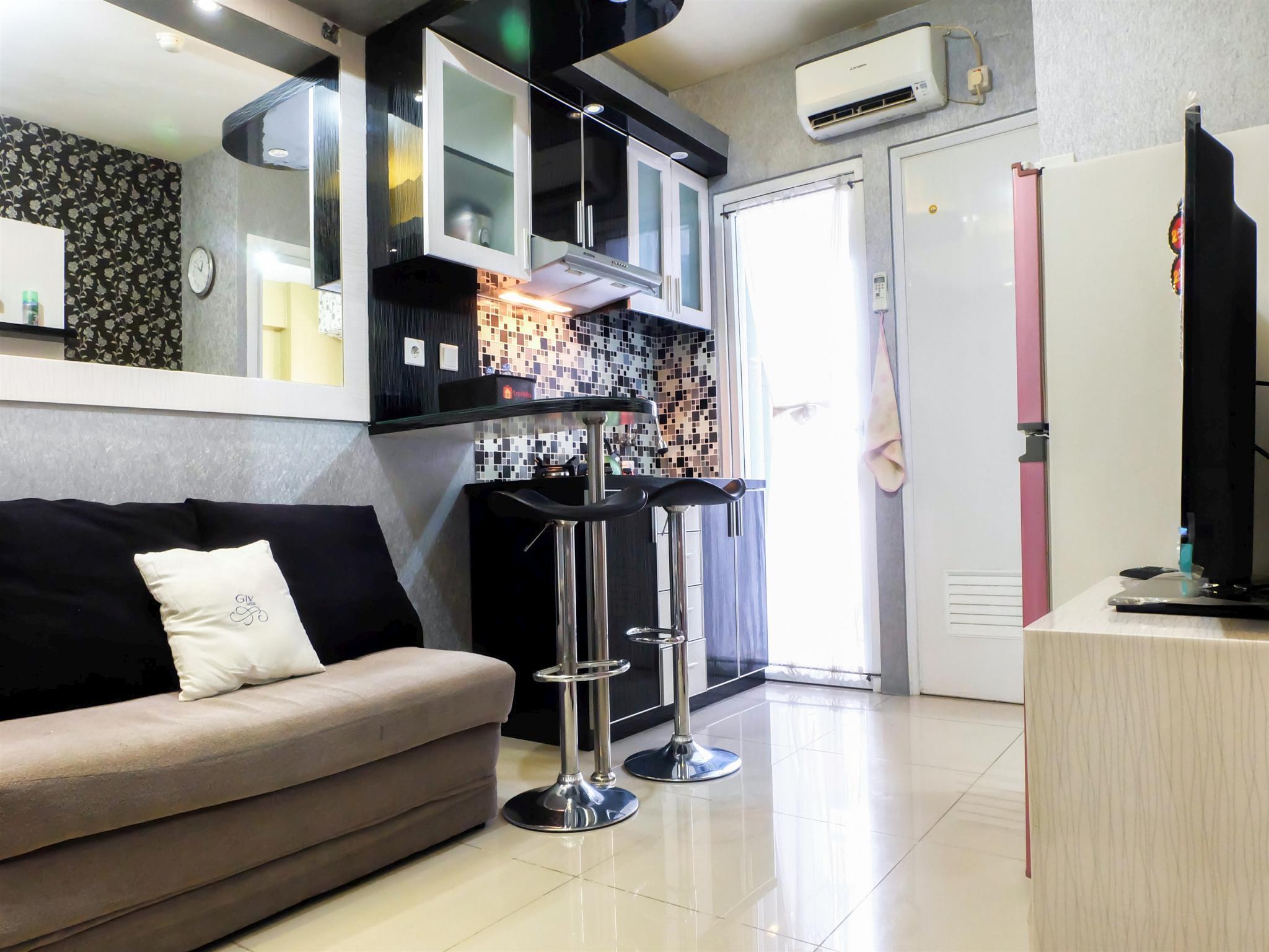 2BR With Sofa Bed Green Pramuka Apt Travelio