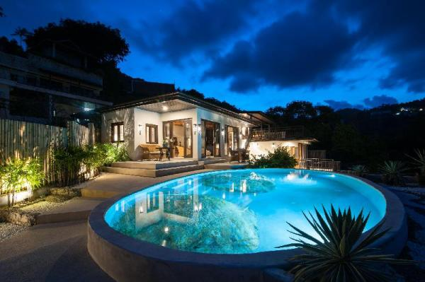 Luxury Thai Style Villa with Rock pool Sea-View. Koh Samui