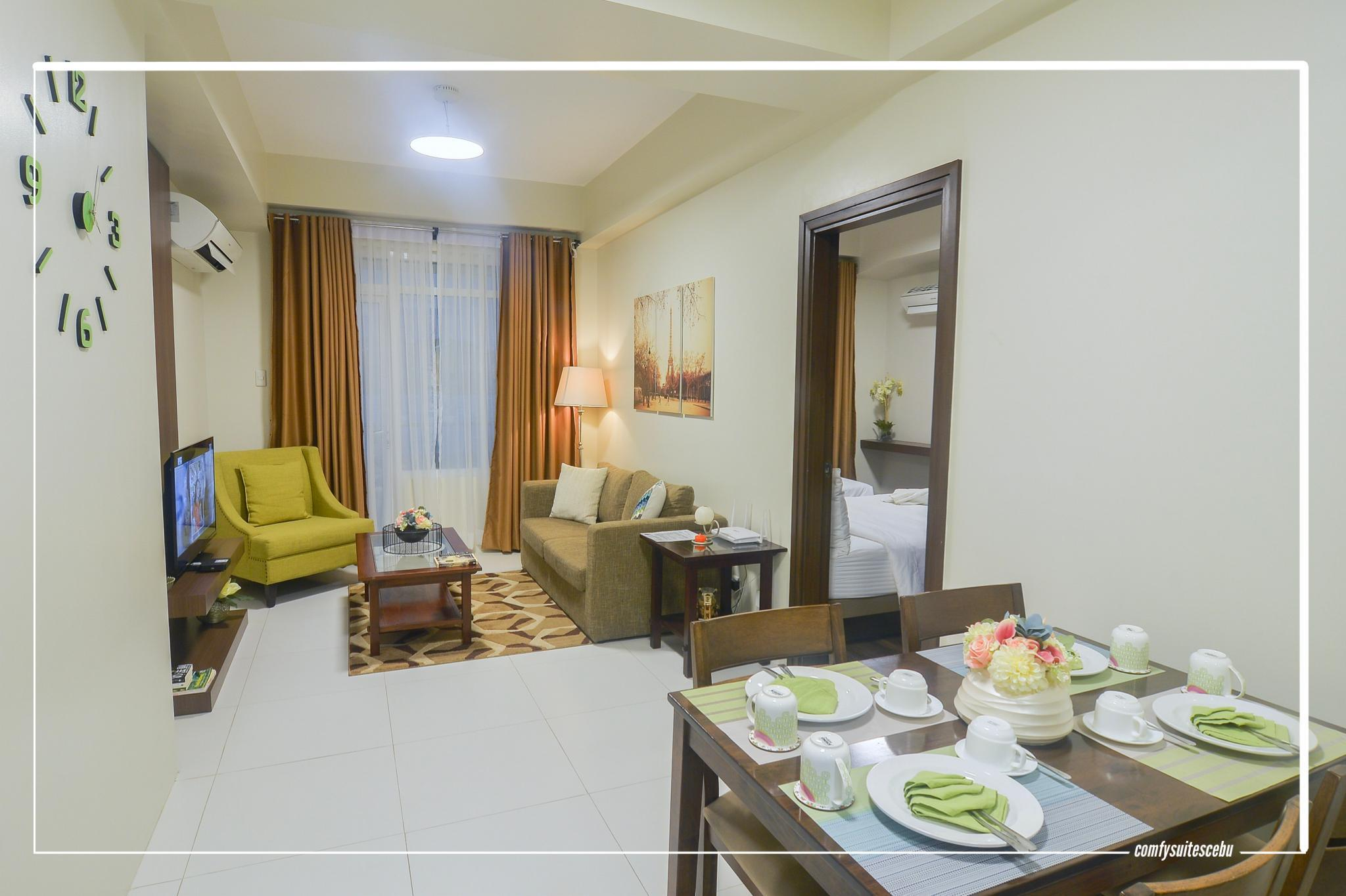 C2   Spacious And Clean 1 Bedroom Near Ayala Mall