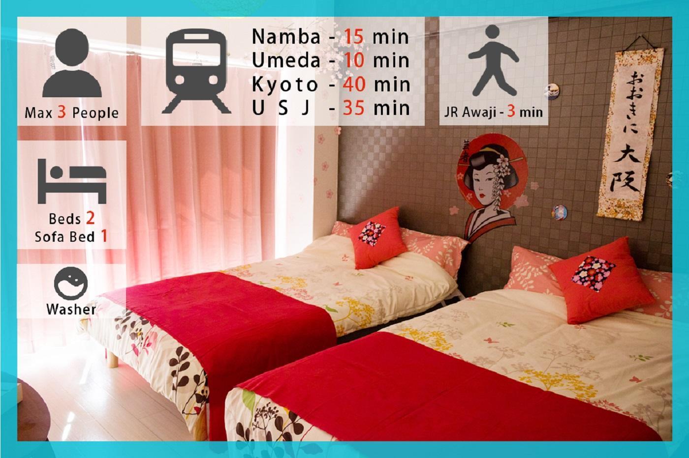 Coz Fully Furnished Awaji Apartment 502