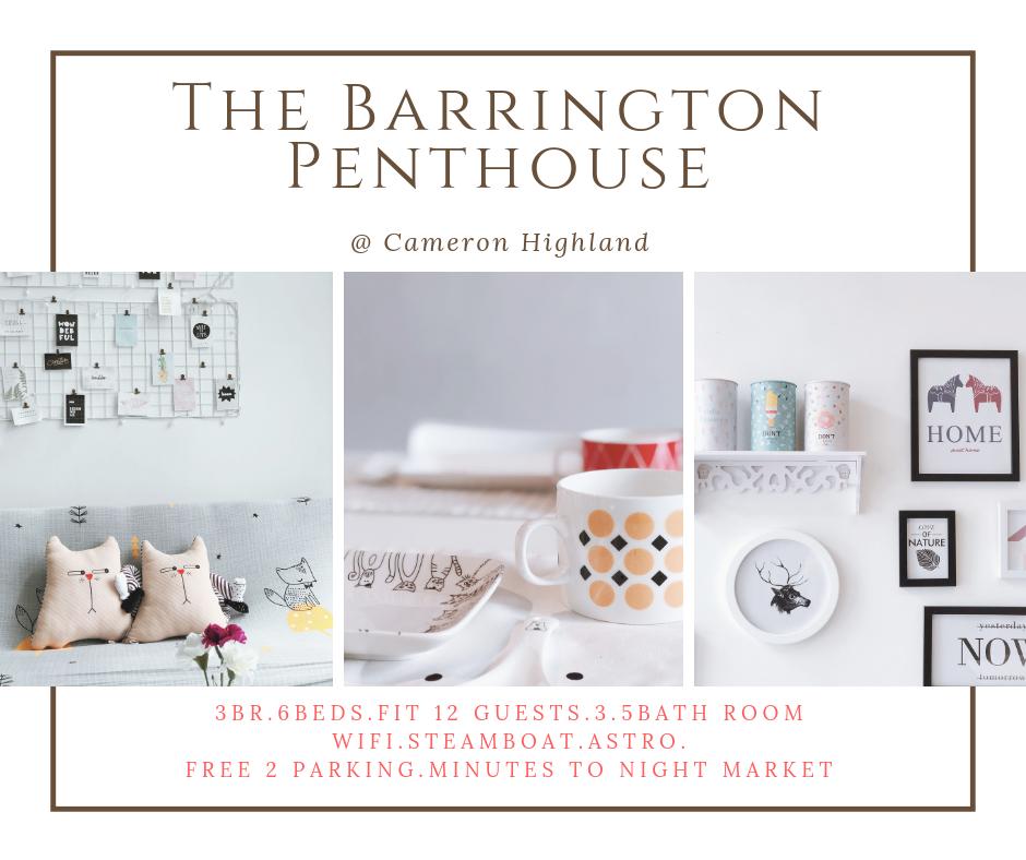3BR The Barrington Penthouse@Cameron Night Market