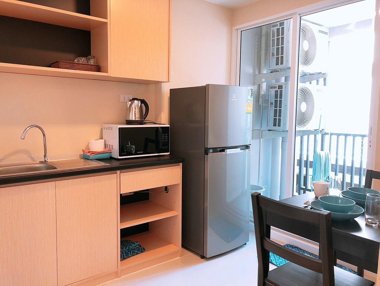 Brand-New Cozy Living @ Donmeung Airport 228/16 บ้านเดี่ยว 1 ห้องนอน 1 ห้องน้ำส่วนตัว ขนาด 35 ตร.ม. – สนามบินนานาชาติดอนเมือง