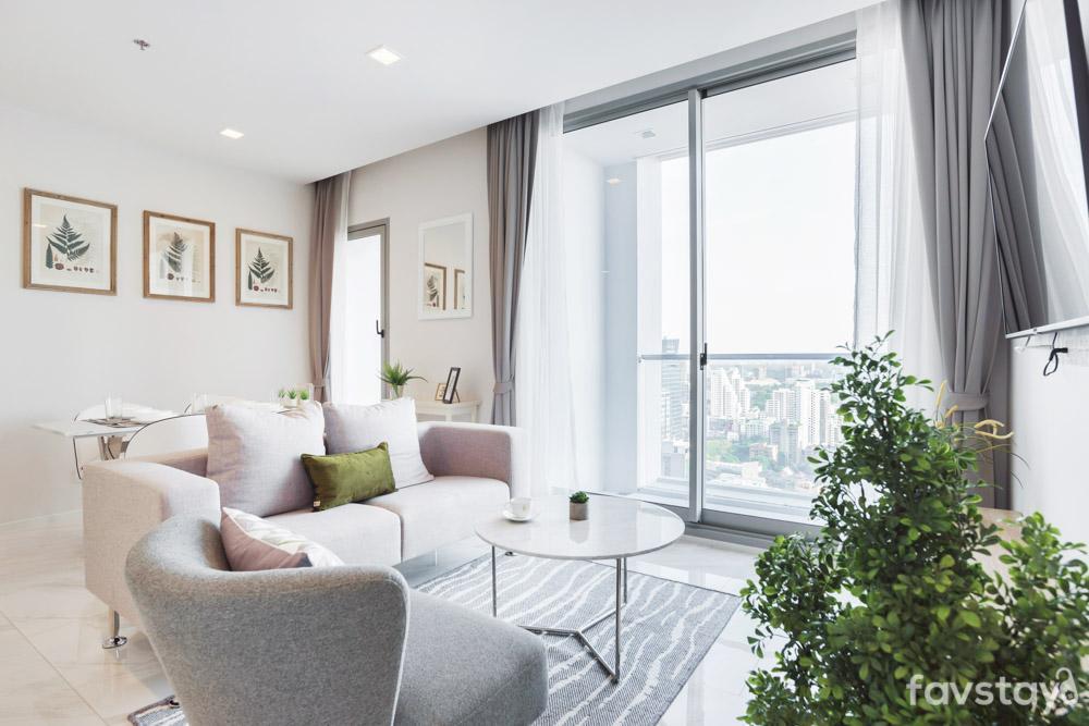 Modern Cozy Apartment [3BR] Nearby BTS Nana อพาร์ตเมนต์ 3 ห้องนอน 2 ห้องน้ำส่วนตัว ขนาด 60 ตร.ม. – สุขุมวิท