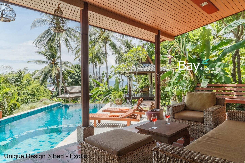 EXOTIC 3br - Pool, Sea View, Lush Garden วิลลา 3 ห้องนอน 2 ห้องน้ำส่วนตัว ขนาด 350 ตร.ม. – หาดสลัด