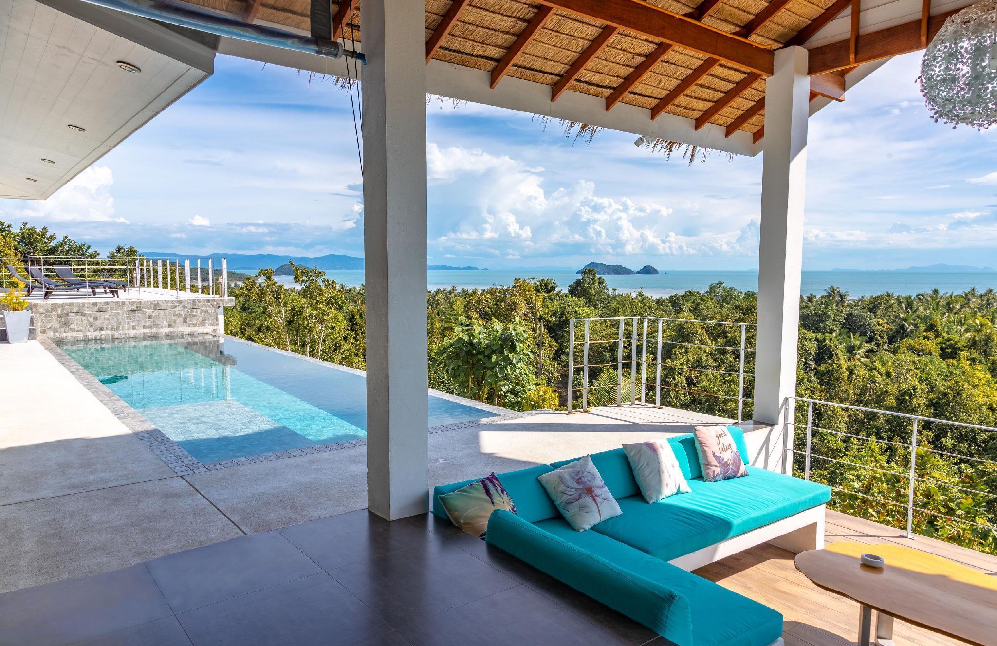 Shades of Blue - Tropical chic sea view villa วิลลา 4 ห้องนอน 4 ห้องน้ำส่วนตัว ขนาด 300 ตร.ม. – ศรีธนู