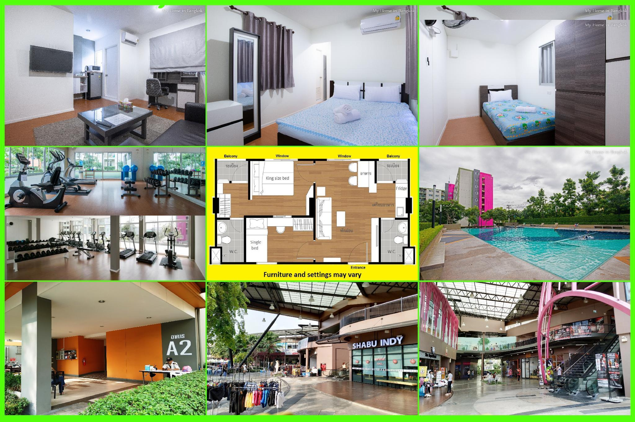 Family Apartment ''My Home In Bangkok''  A2/111