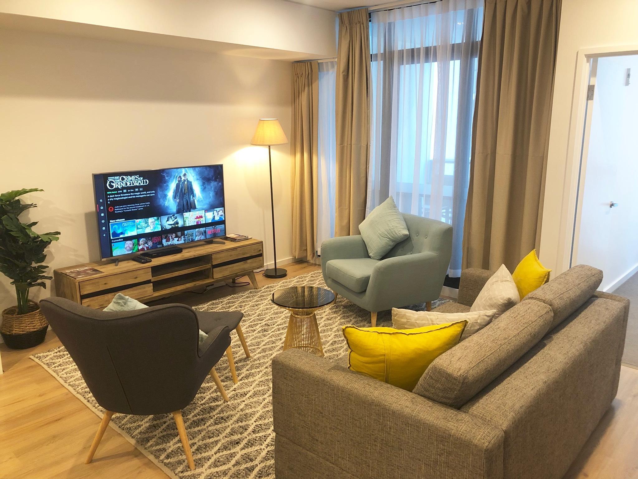 Stylish Luxury 2Bed 2Bath Apartment+Netflix+WiFi