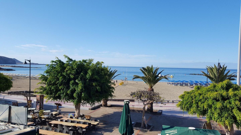 Playa De Las Vistas. Sea View. Meerblick.