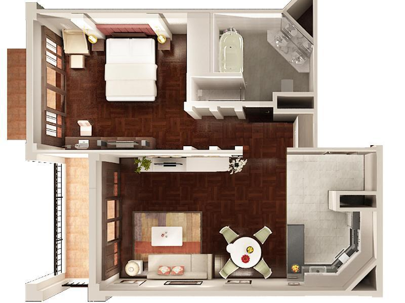 1 Bedroom Business Suite