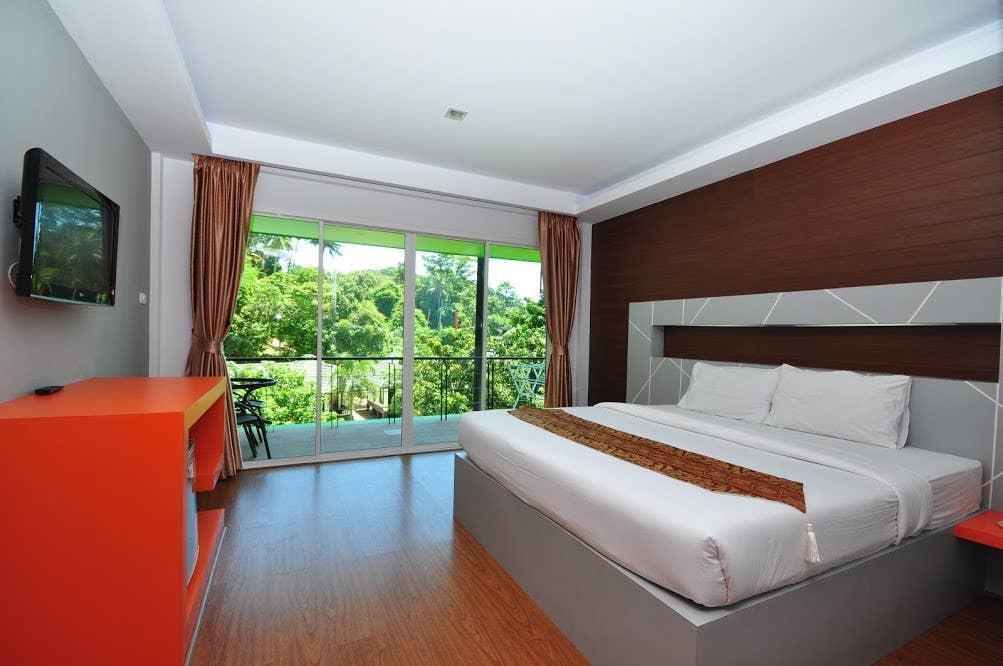 Modern Room Double bed on Phi Phi สตูดิโอ อพาร์ตเมนต์ 1 ห้องน้ำส่วนตัว ขนาด 45 ตร.ม. – อ่าวต้นไทร
