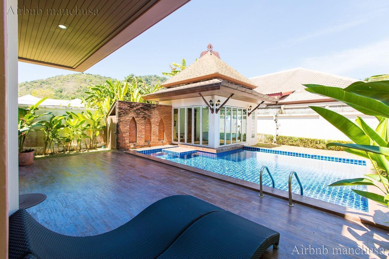 Peaceful Thai style villa - Baanmanchusa 2 วิลลา 3 ห้องนอน 4 ห้องน้ำส่วนตัว ขนาด 150 ตร.ม. – ในหาน
