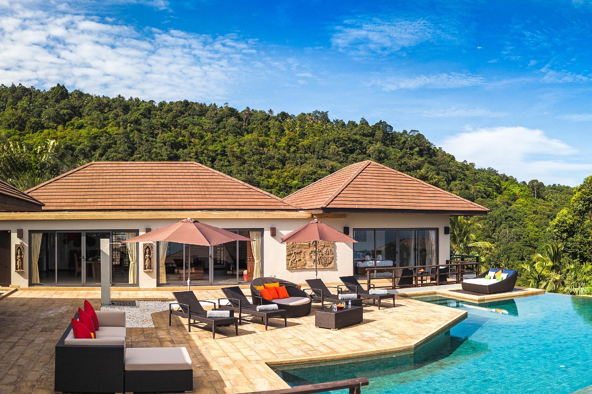 5 Bedroom Sea View Villa Bubbles - with chef วิลลา 5 ห้องนอน 5 ห้องน้ำส่วนตัว ขนาด 800 ตร.ม. – บางปอ