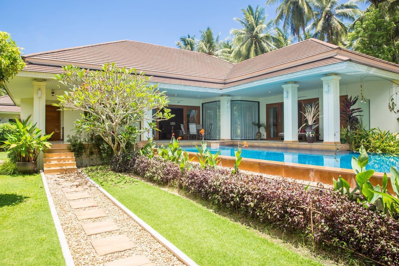 Baan Sansuk - 3 Beds, sleeps 6, villa & large pool บังกะโล 3 ห้องนอน 2 ห้องน้ำส่วนตัว ขนาด 425 ตร.ม. – แม่น้ำ