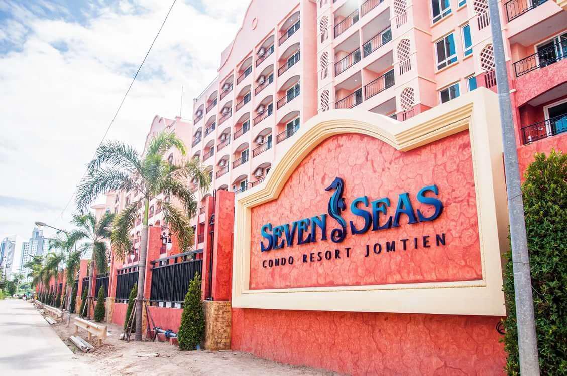 Seven Seas Condo Resort Studio D5 สตูดิโอ อพาร์ตเมนต์ 1 ห้องน้ำส่วนตัว ขนาด 28 ตร.ม. – หาดจอมเทียน