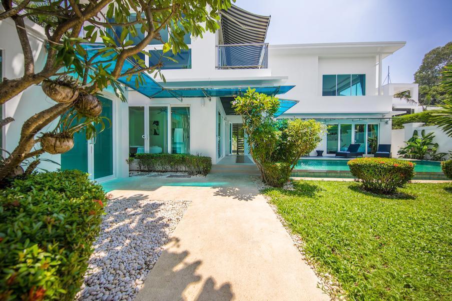 CRYSTAL Pool Villa 5 Bedroom Palm Oasis Village วิลลา 5 ห้องนอน 5 ห้องน้ำส่วนตัว ขนาด 270 ตร.ม. – หาดจอมเทียน