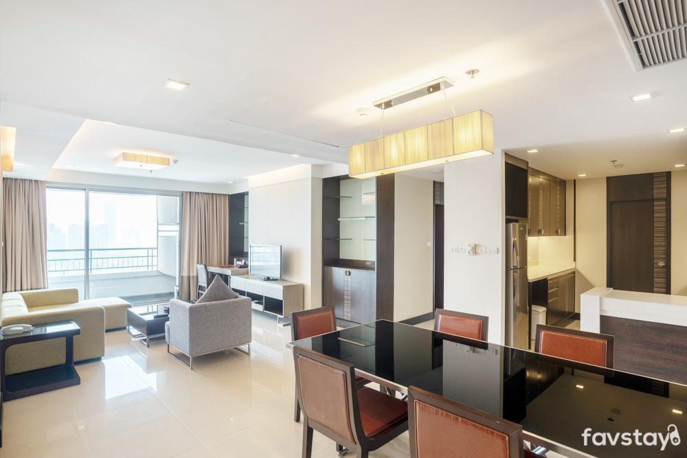 Spacious Family Suite near BTS Phrakhanong อพาร์ตเมนต์ 2 ห้องนอน 1 ห้องน้ำส่วนตัว ขนาด 110 ตร.ม. – สุขุมวิท