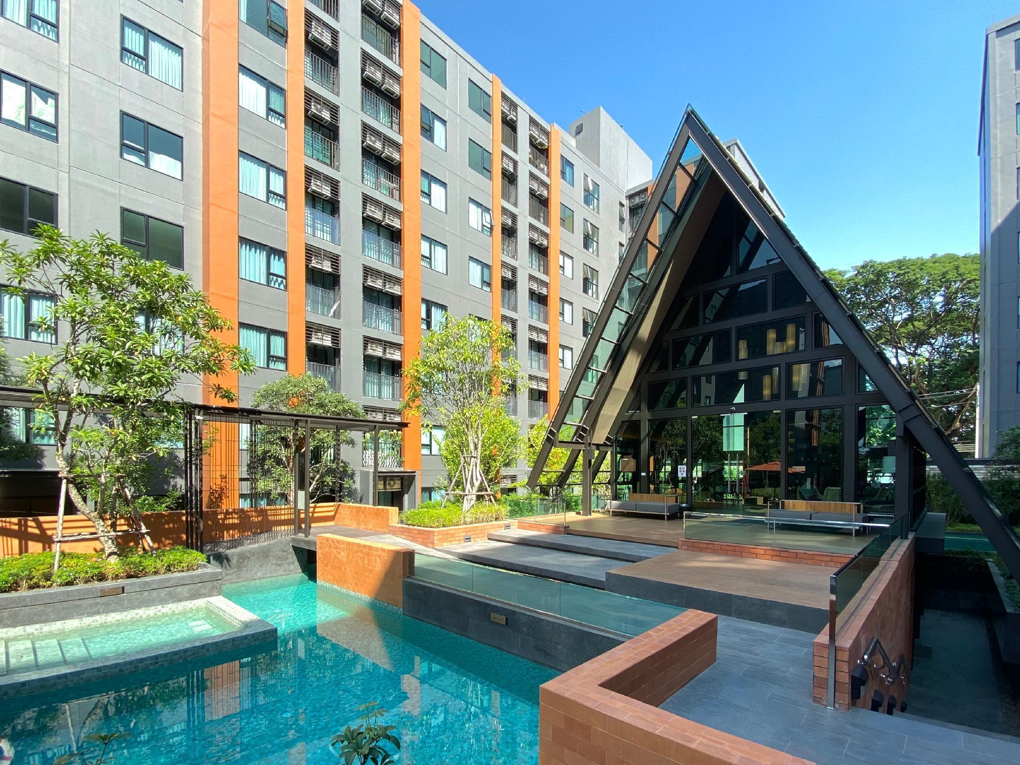 New studio condo for 1-2 guest(s) (Long-term stay) สตูดิโอ อพาร์ตเมนต์ 1 ห้องน้ำส่วนตัว ขนาด 24 ตร.ม. – ฟ้าฮ่าม