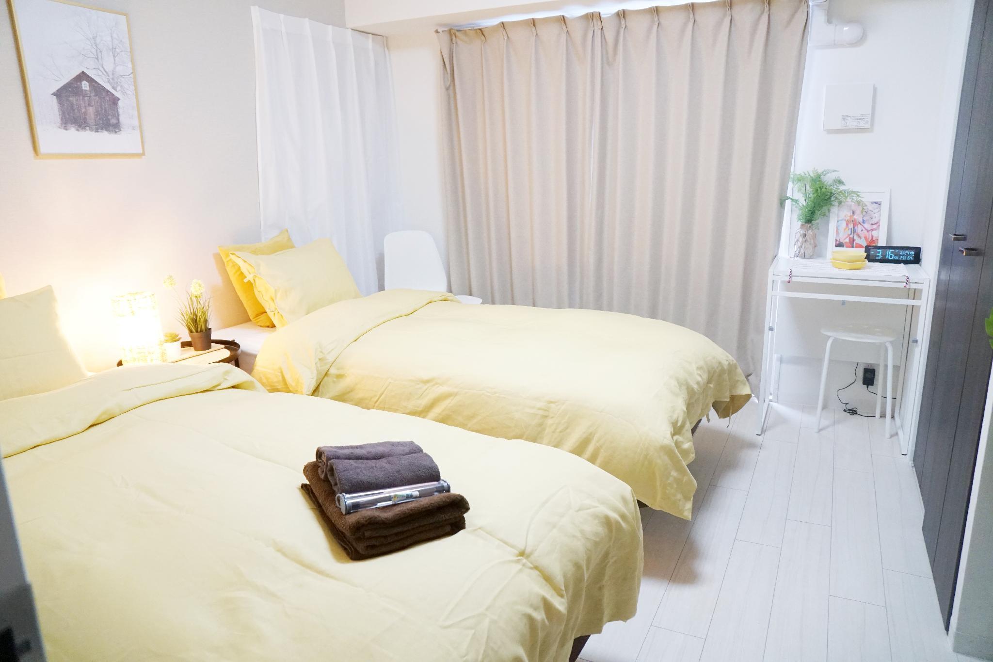 Osaka City Near NihonbashiCookie Cottage Twin Room