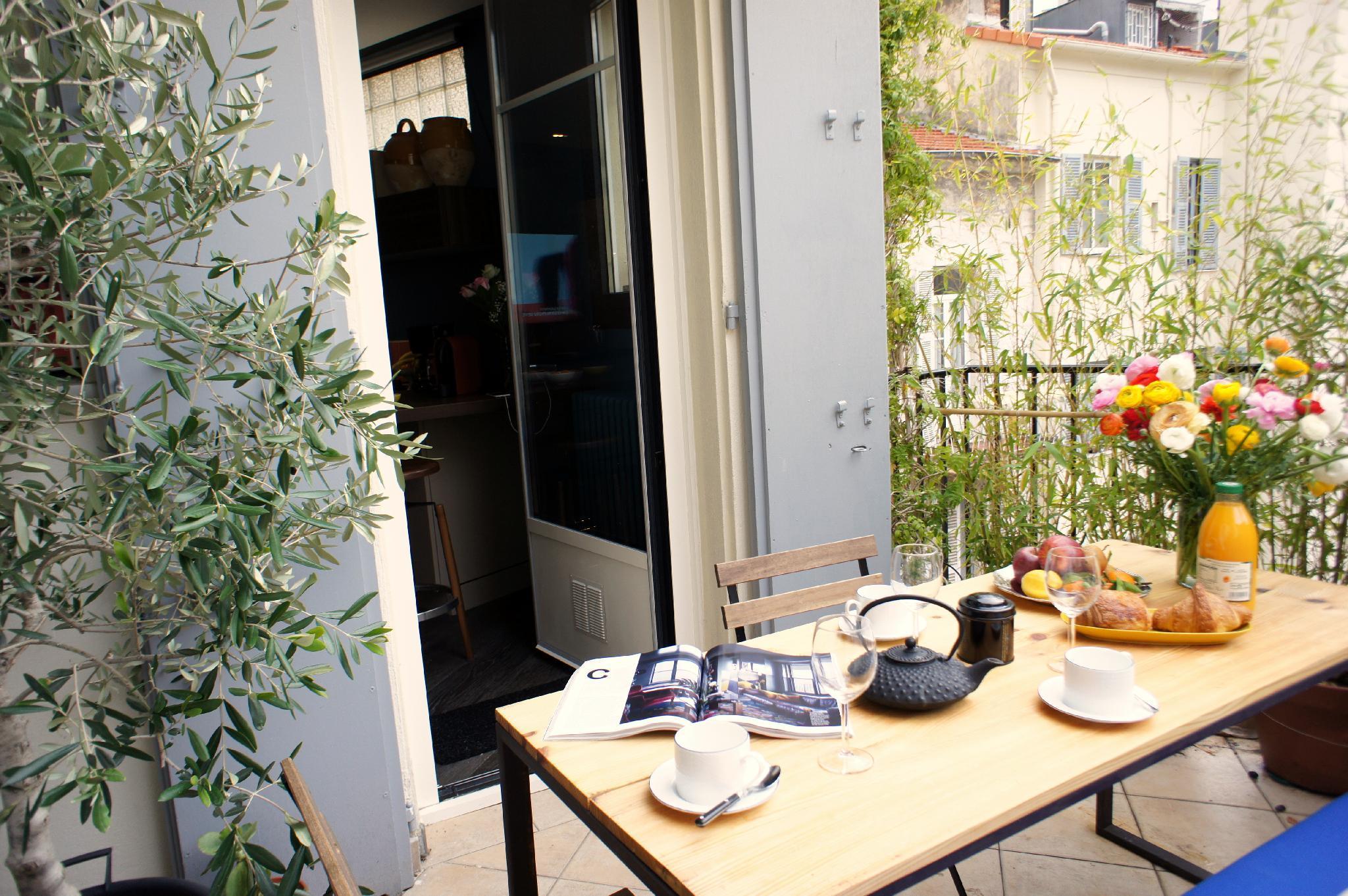 Elegant Apartment Promenade des Arts - Terrace