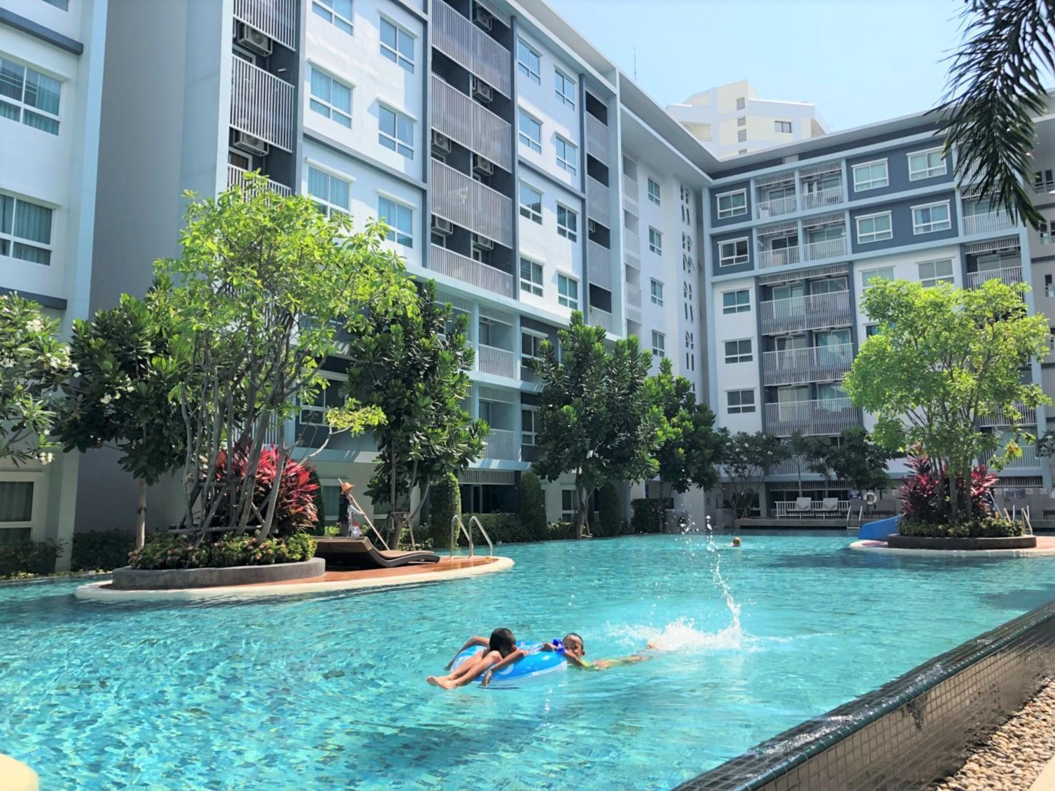 Pool View D @ The Trust Condo Hua Hin อพาร์ตเมนต์ 1 ห้องนอน 1 ห้องน้ำส่วนตัว ขนาด 33 ตร.ม. – กลางเมืองหัวหิน